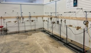 Our new and vastly improved backflow wet lab!